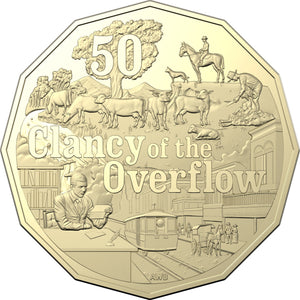 Banjo Paterson's - Clancy of the Overflow 50c Uncirculated Coin