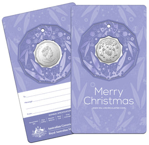 Christmas Decoration 2020 50c Uncirculated Coin