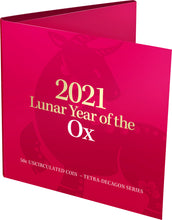 Load image into Gallery viewer, Lunar Year of the Ox 2021 50c Tetra-Decagon Uncirculated Coin