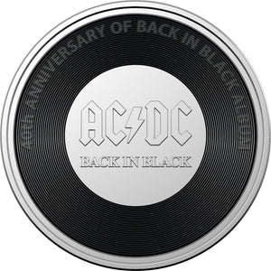 AC/DC Seven Coin Collection 2020/2021 20c Coloured Uncirculated Coins