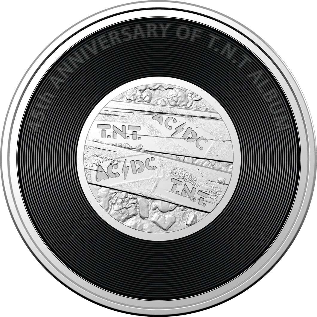 AC/DC - TNT 2020 20c Coloured Uncirculated Coin