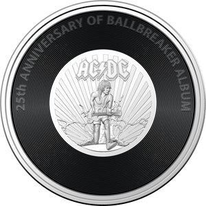 AC/DC - Ballbreaker 2020 20c Coloured Uncirculated Coin