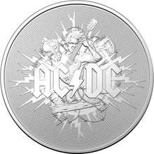 Load image into Gallery viewer, AC/DC 2021 $1 Silver Frosted Uncirculated Coin
