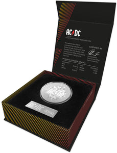 AC/DC 2021 $1 Silver Frosted Uncirculated Coin