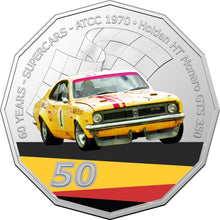 Load image into Gallery viewer, 60 Years of Supercars 1970 Holden HT Monaro GTS 350 2020 50c Coloured Uncirculated Coin