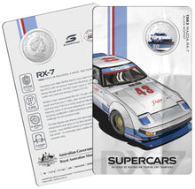 Load image into Gallery viewer, 60 Years of Supercars 1983 Mazda RX7 2020 50c Coloured Uncirculated Coin