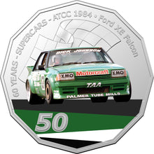 Load image into Gallery viewer, 60 Years of Supercars 1984 Ford XE Falcon 2020 50c Coloured Uncirculated Coin