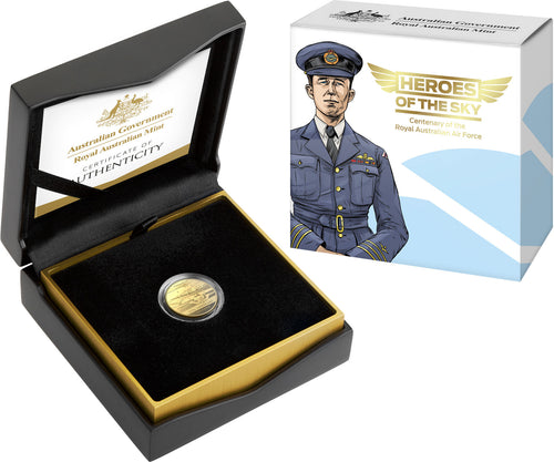 Heroes of the Sky-Centenary of the Royal Australian Air Force 2021 $10 'C' Mintmark Gold Proof Coin