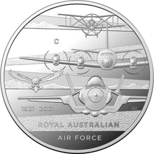 Load image into Gallery viewer, Heroes of the Sky-Centenary of the Royal Australian Air Force 2021 $1 'C' Mintmark Silver Proof Coin