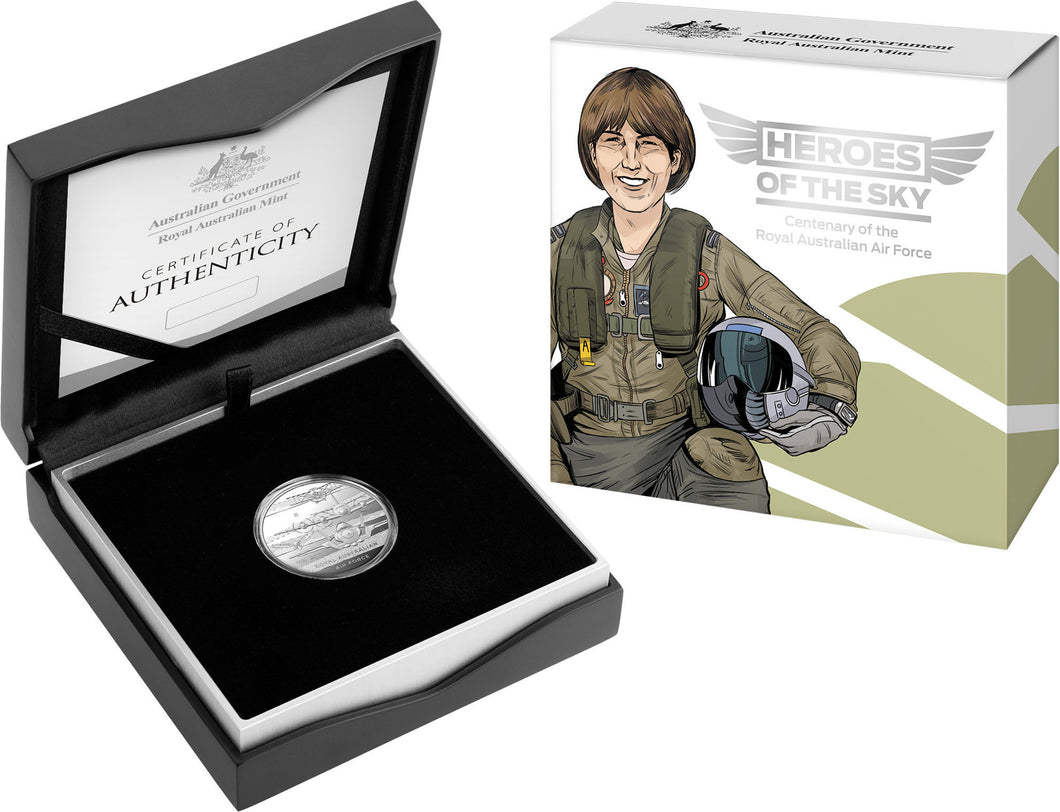 Heroes of the Sky-Centenary of the Royal Australian Air Force 2021 $1 'C' Mintmark Silver Proof Coin