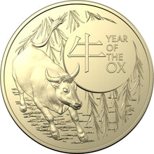 Load image into Gallery viewer, Lunar Year of the Ox 2021 $1 Uncirculated 2 Coin Set