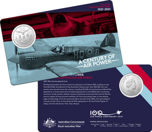 A Century of Air Power - Eleven Coin Collection 2021 50c Coloured Uncirculated Coin