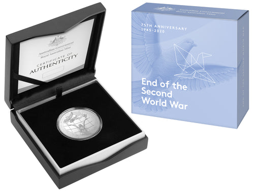 75th Anniversary of the End of World War II $5 Silver Proof Coin