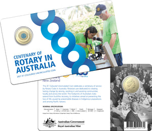 Centenary of Rotary in Australia 2021 $1 Coloured Uncirculated Coin