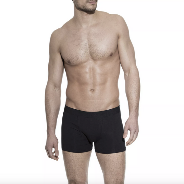 Bread & Boxers Organic Cotton Boxer Brief in Black