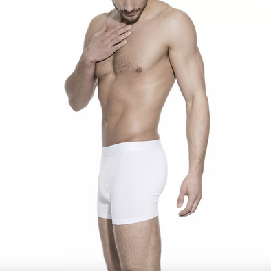 Bread & Boxers Organic Cotton Boxer Brief in White