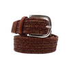 Paolo Vitale Braided Belt in Tan