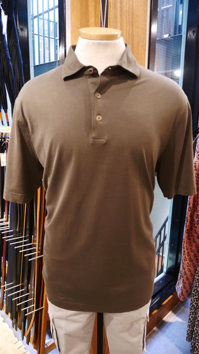 Filippo De Laurentiis Cotton Polo in Olive