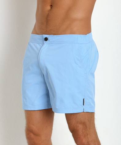 Hugo Boss Tigerfish Swim Trunks in Light Blue