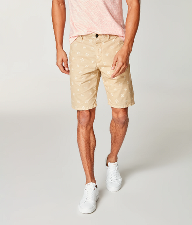Good Man Brand Monaco Stretch Twill Shorts in Baja