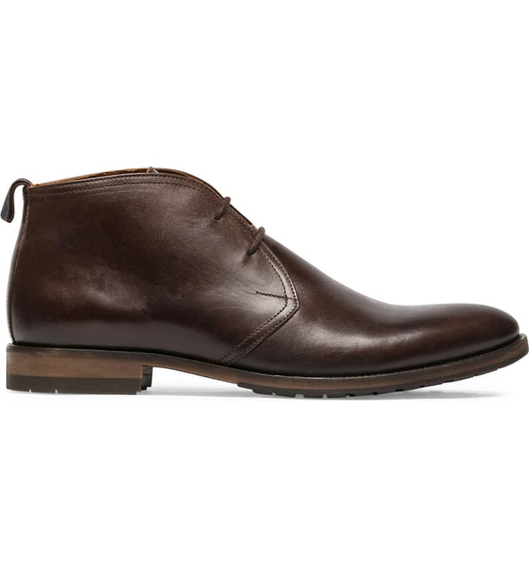Rodd & Gunn Pebbly Hill Leather Chukka Boot in Chocolate
