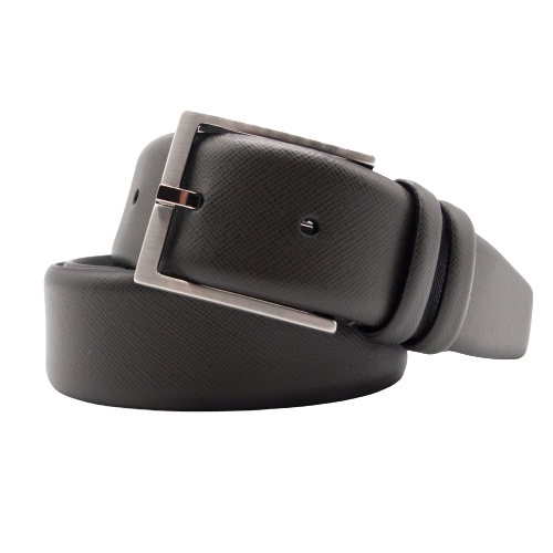 Stefano Piazza Saffiano Leathe Belt in Grey