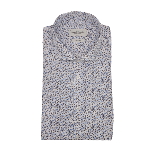 Bruun & Stengade Leonel Dress Shirt in Blue Multi