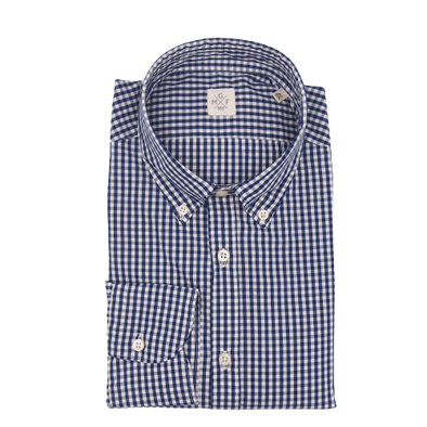 MGF Button Down Shirt in Navy Gingham