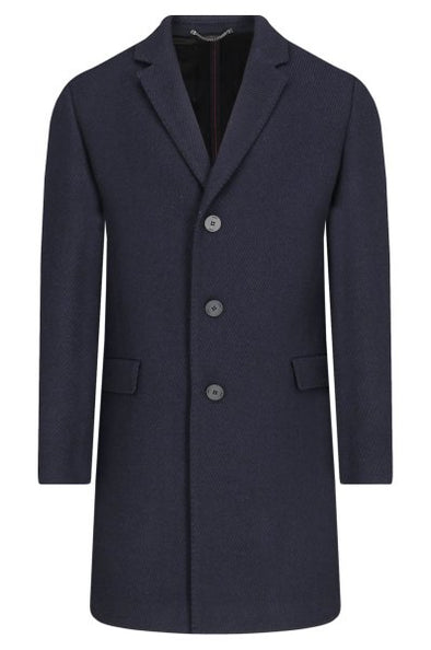 Hugo Boss Migor Coat in Navy Multi