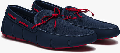 Swims Braided Lace Loafers in Navy