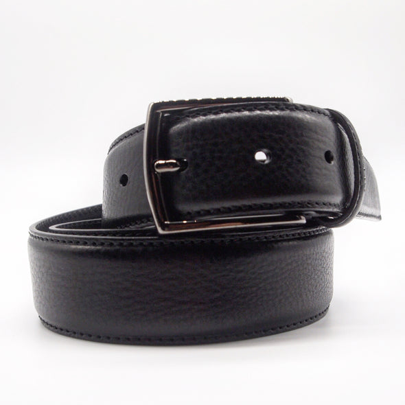 Olimpio Casual Belt in Black