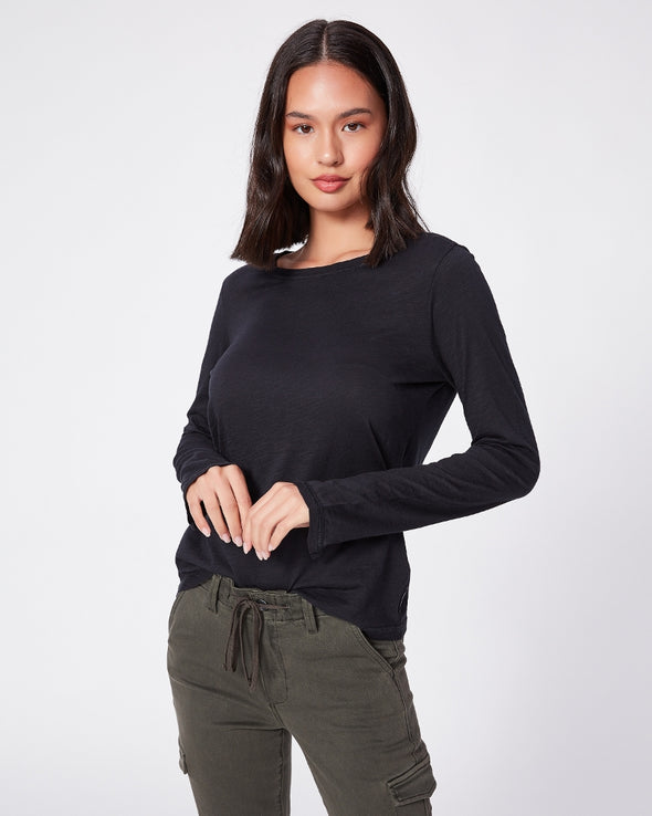Paige Audra LS Top in Faded Black