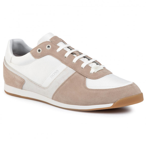 Hugo Boss Glaze Sneaker in Open White