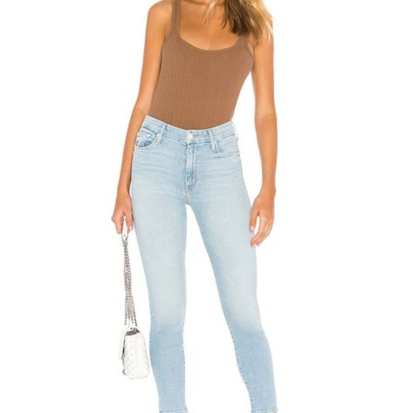 MOTHER The Looker Crop Jeans in Fresh Catch