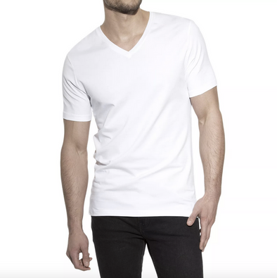 Bread & Boxers V-Neck T-Shirt in White