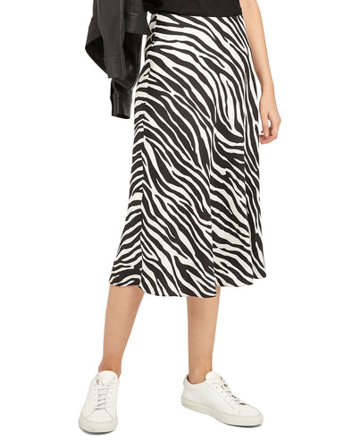 Theory Modern Slip Skirt in Zebra