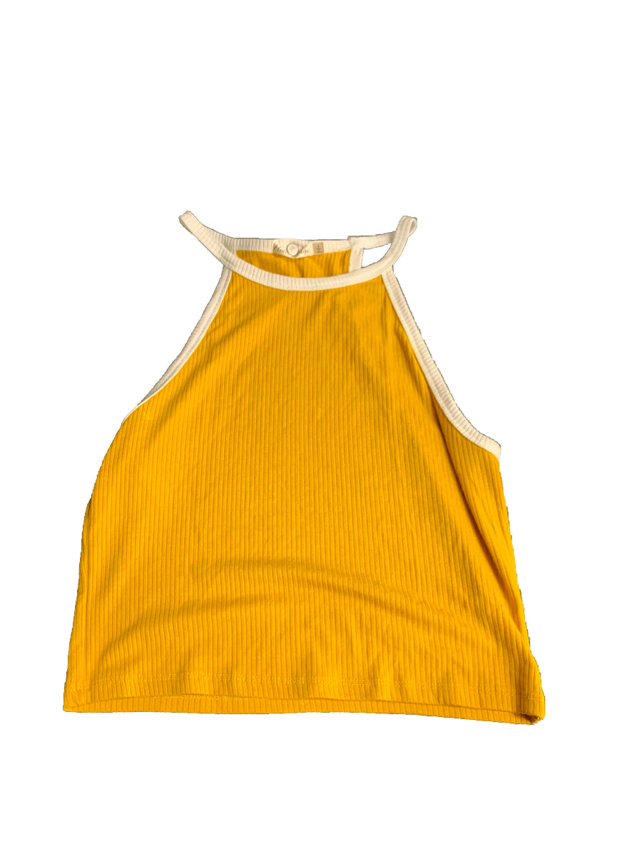 Yellow Heart and Hips Womens Tops Tanks