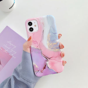 Marble Crack Matte Phone Cases For iphone