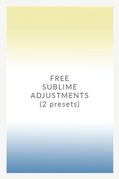 Sublime Adjustments (FREE!)