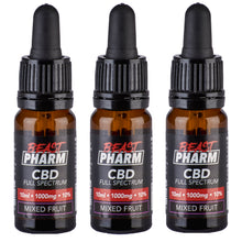 Load image into Gallery viewer, Discount Bundle! Beast Pharm Full Spectrum 10% CBD Oil 1000mg - 10ml - Pack of 3