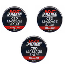 Load image into Gallery viewer, Discount Bundle! Beast Pharm CBD Massage Balm - 500mg - Pack of 3