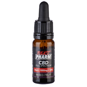 Discount Bundle! Beast Pharm Full Spectrum 10% CBD Oil 1000mg - 10ml - Pack of 3