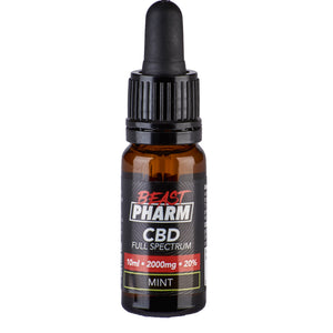 Discount Bundle! Beast Pharm Full Spectrum 20% CBD Oil 2000mg - 10ml - Pack of 3