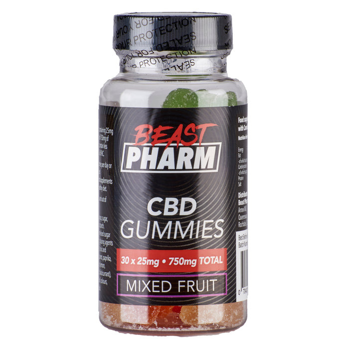 Beast Pharm CBD Gummies Mixed Fruit - 25mg x 30 pcs