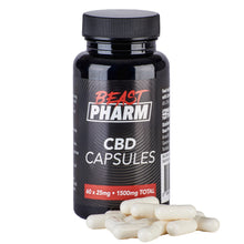 Load image into Gallery viewer, Discount Bundle! Beast Pharm CBD Capsules - 60 x 25mg - Pack of 3