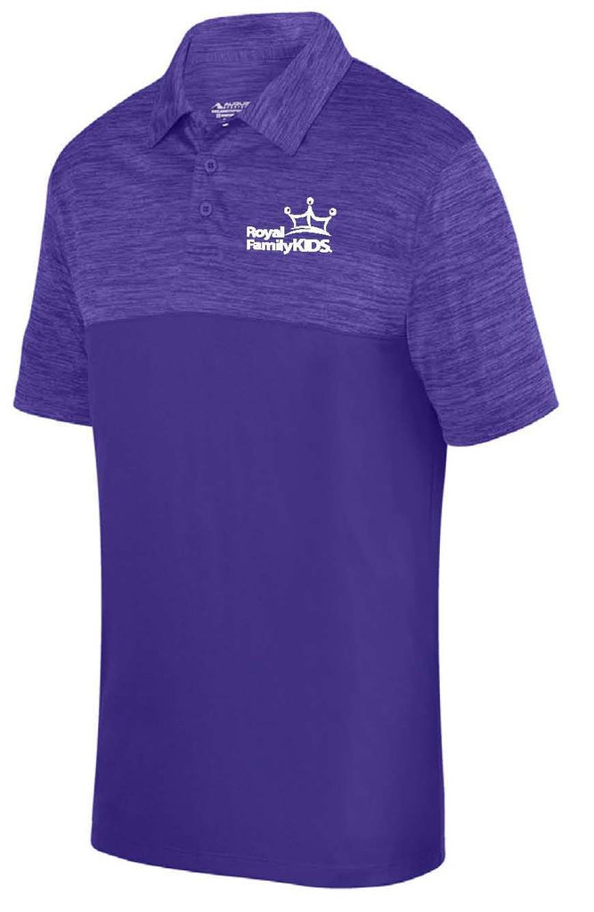 MENS PURPLE TWO TONED POLO