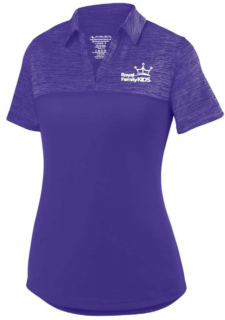 WOMENS PURPLE TWO TONED POLO