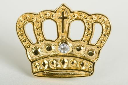 Gold Plated Crown - 10 Yr Pin