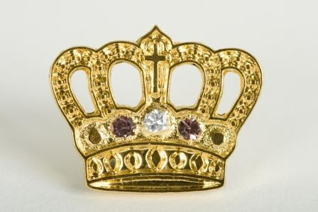 Gold Plated Crown - 15 Yr Pin