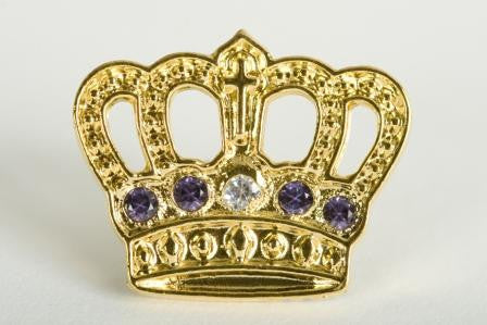 Gold Plated Crown - 20 Yr Pin
